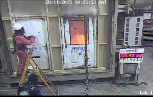 Fire test on Nan Ya door